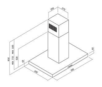 Yeobuild-HomeStore_Turbo-Immaginario-cooker-hood-T106090SS-dimension