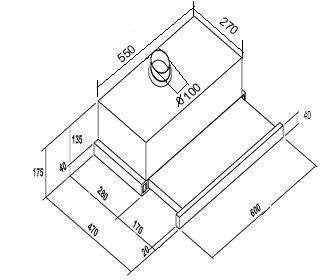 Yeobuild-HomeStore_Turbo-Incanto-TL500-telescopic-hood-dimension