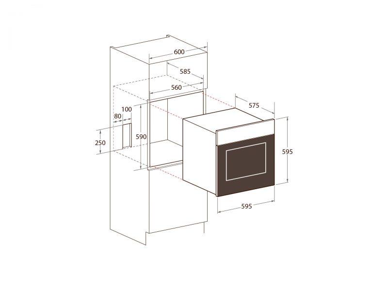 Yeobuild HomeStore Mayer MMDO8R Built-In Oven diagram