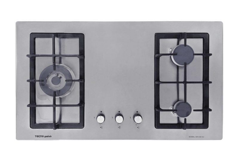 Tecno SR838SV 3-Burner Stainless Steel Hob