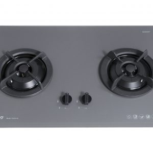 Tecno T 22TGSV 2-Burner Glass Hob Ceran Grey