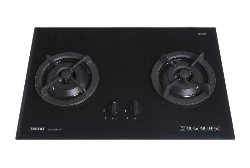 Tecno T 22TGSV 2-Burner Glass Hob Sparkling Black