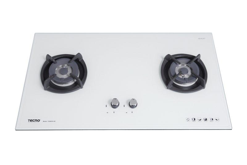 Tecno T2288TGSV 2-Burner Glass Hob Optic White