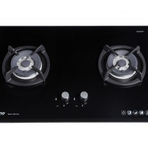 Tecno T28TGSV 2-Burner Glass Hob Black
