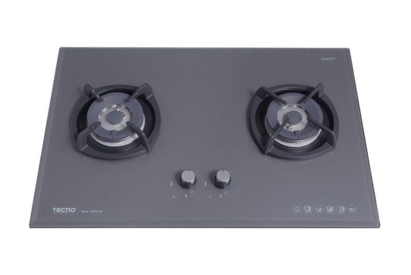 Tecno T28TGSV 2-Burner Glass Hob Ceran Gray