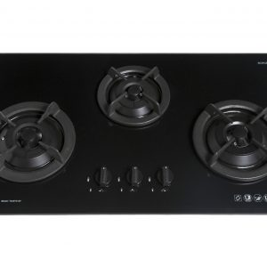 Tecno T333TGSV 3-Burner Glass Hob Sparkling Black