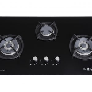 Tecno T3388TGSV 3-Burner Glass Hob black