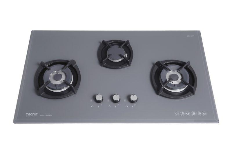 Tecno T3388TGSV 3-Burner Glass Hob nardo grey