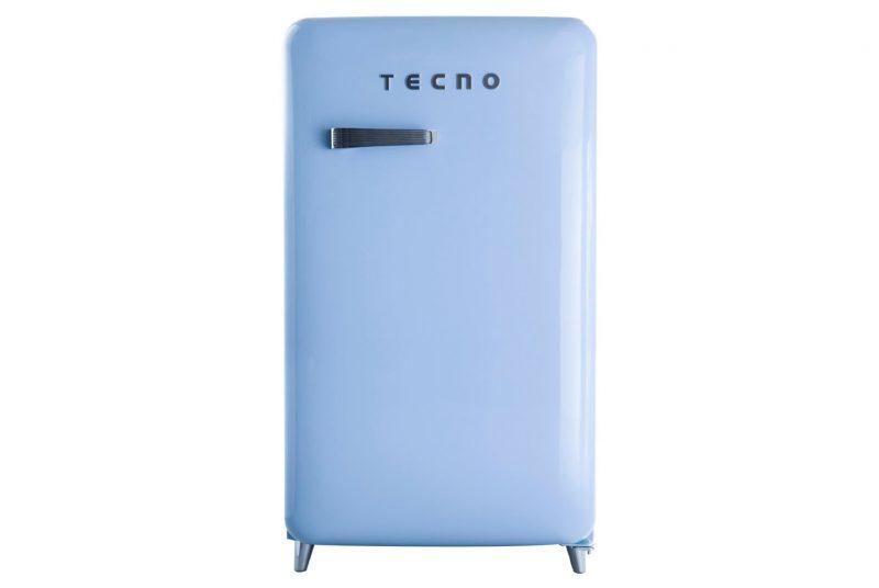 Tecno TFR 1288 1-Door Retro Series Designer Fridge Blue