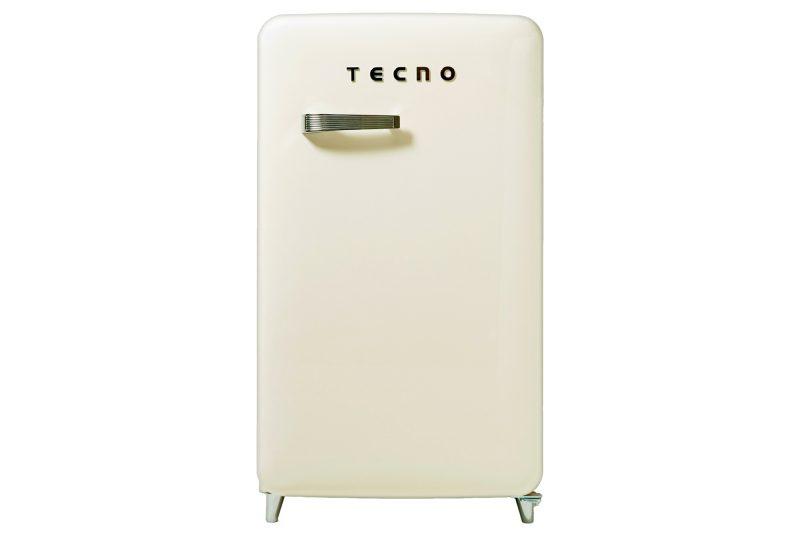 Tecno TFR 1288 1-Door Retro Series Designer Fridge Cream