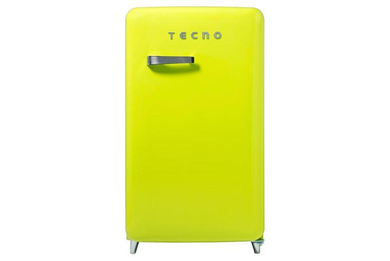 Tecno TFR 1288 1-Door Retro Series Designer Fridge Lemon