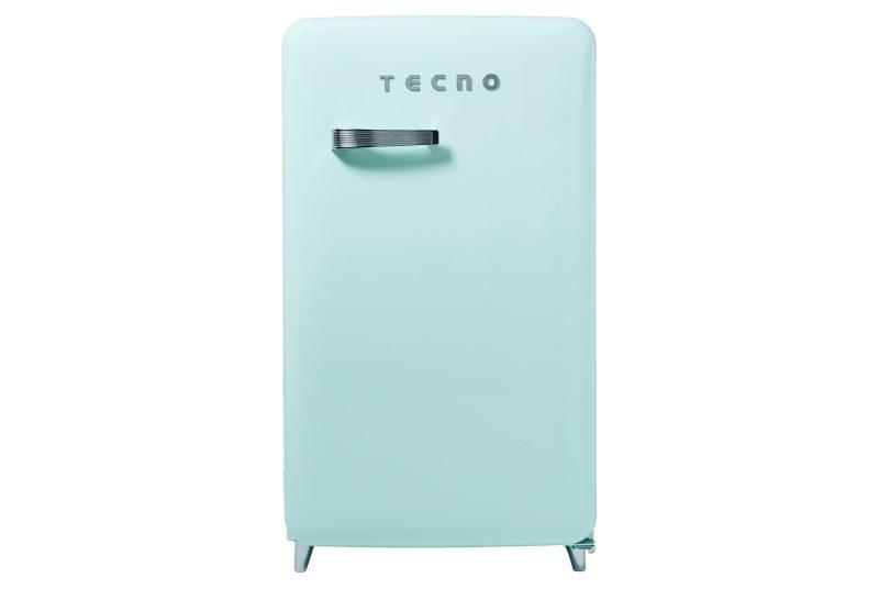 Tecno TFR 1288 1-Door Retro Series Designer Fridge Mint